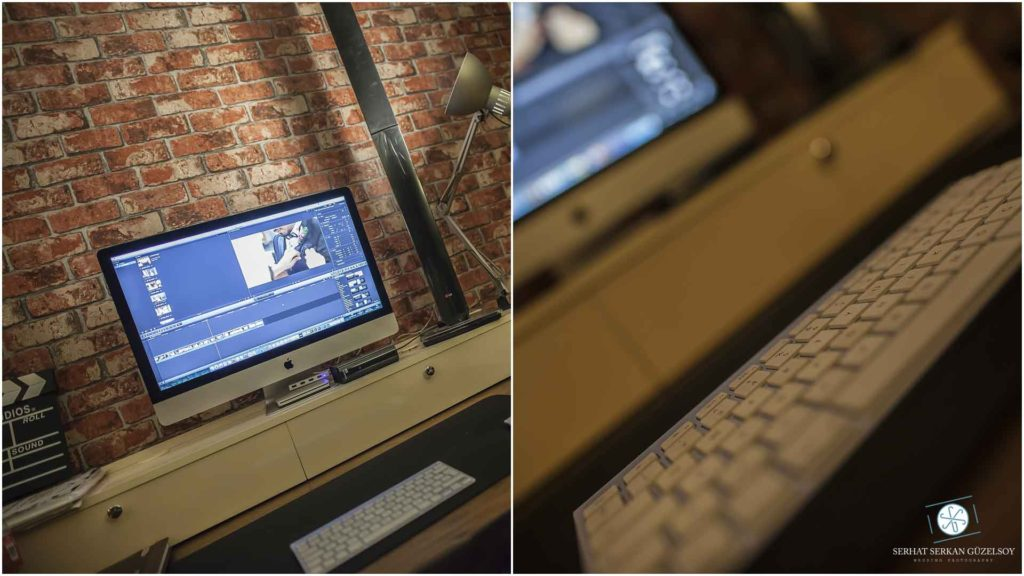 Imac final cut ve düğün video işleme